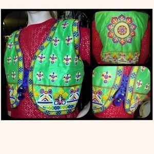 Vtg Embroidered Vest ~ FESTIVAL ~